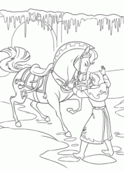 Prince Hans tries to calm his runaway horse