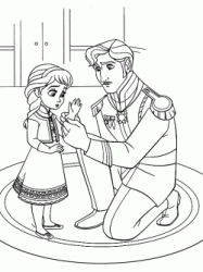 The king puts on gloves to Elsa