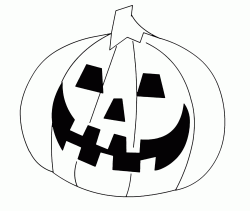 A classic Halloween pumpkin to color