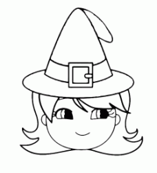 A little girl with a witch's hat