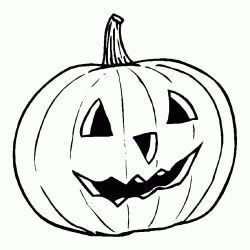 A pumpkin prepared for the Halloween party