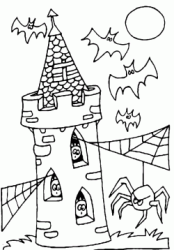 Bats attack the spiders on the tower