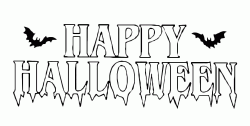 Happy Halloween scary banner