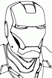 The Iron Man's face