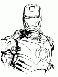 The Iron Man threatening look
