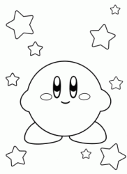 Kirby among the stars