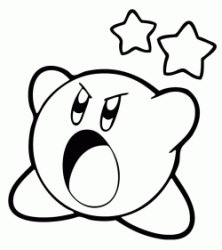 Kirby is angry