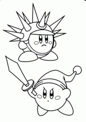 Kirby Needle and Kirby Sword