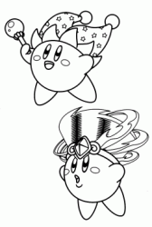 Kirby's Beam Copy Ability and Kirby Tornado