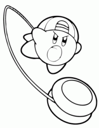 Kirby throws the yo yo