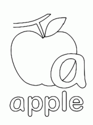 a for apple lowercase letter