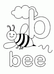 b for bee lowercase letter