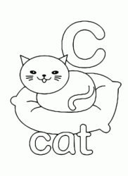 c for cat lowercase letter