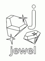 j for jewel lowercase letter