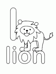l for lion lowercase letter