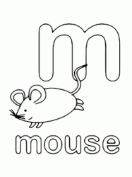 m for mouse lowercase letter