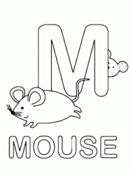 M for mouse uppercase letter