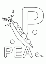P for pea uppercase letter