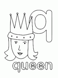 q for queen lowercase letter