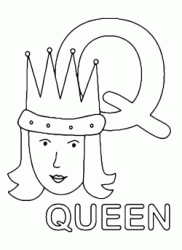 Q for queen uppercase letter