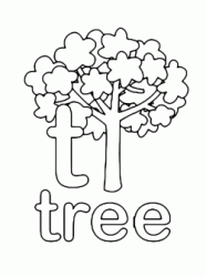 t for tree lowercase letter