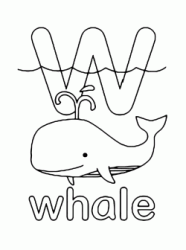 w for whale lowercase letter