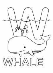 W for whale uppercase letter