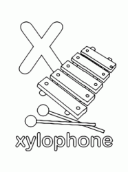 x for xylophone lowercase letter