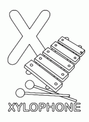 X for xylophone uppercase letter