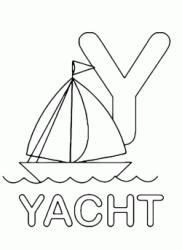 Y for yacht uppercase letter