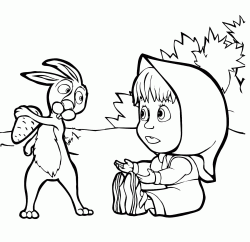 Rabbit does not want to give Masha carrot