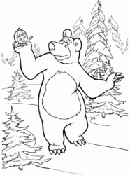 The Bear brings Masha for a walk in the forest
