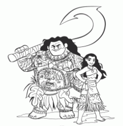 The Maona princess with the demigod Maui