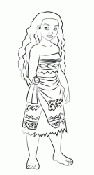The Moana princess with her people dress
