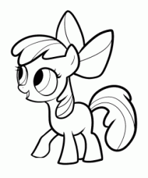 Apple Bloom the sister of Applejack