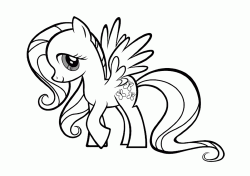 Fluttershy is a yellow pony-pegasus and a long pink mane