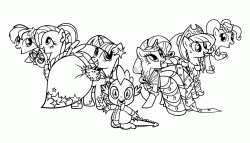 My Little Pony all six together including Spike