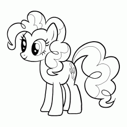Pinkie Pie looks curious