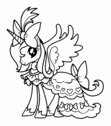 Princess Celestia with her cloak on her back