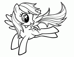 Rainbow Dash jumps happy