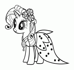 Rarity wears a beautiful coat