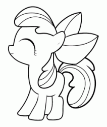 The little Apple Bloom happy