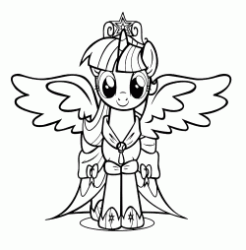 Twilight Sparkle princess with open wings
