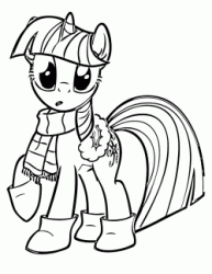 Twilight Sparkle with scarf and ankle boots