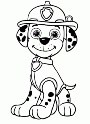 Marshall the Dalmatian breed is a firedog