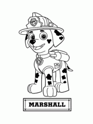 Marshall the firedog