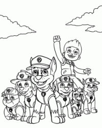 The Paw Patrol all the team