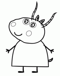 Madame Gazelle is the teacher at Peppa's playgroup