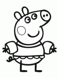 Peppa Pig with armbands and costume