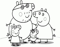 The Pig family Peppa George Daddy and Mummy Pig